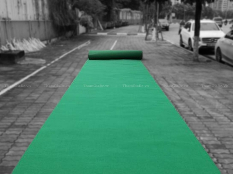 Thảm trải màu xanh lá sự kiện, lối đi, khai trương  giá rẻ số #1 hà nội