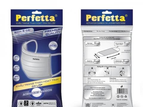 Khẩu trang y tế 4 lớp Perfetta Carbon giá rẻ