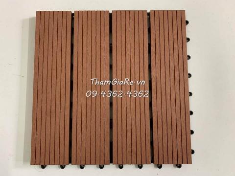 Sàn gỗ vỉ nhựa ghép ngoài trời