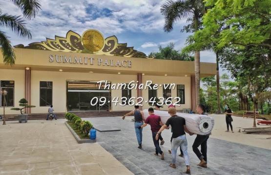 Thảm trải trung tâm tiệc cưới Paragon Hill Resort ở Ba Vì