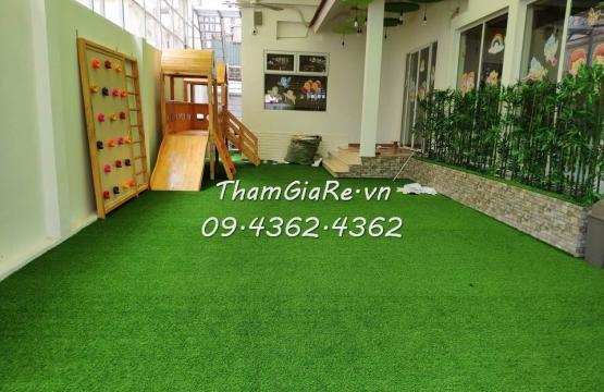 Thảm cỏ nhân tạo tại trường mầm non