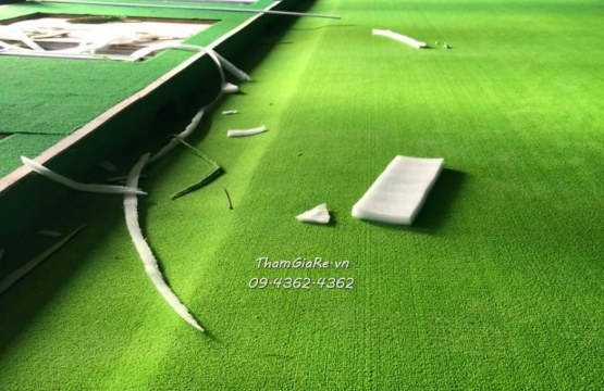 Thi công công trình tòa Starlake Tây Hồ thảm phòng tập golf màu xanh tươi mát
