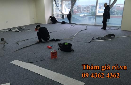 Thi công thảm văn phòng Malaysia tại trụ sở Techcombank