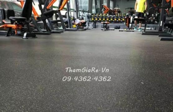 Công trình 170m2 Thảm cao su phòng Gym Khu đô thị Viglacera Xuân Phương - Nam Từ Liêm