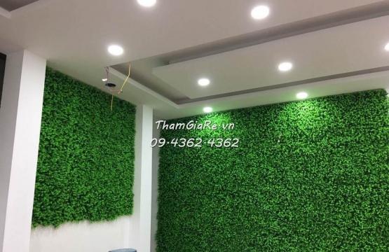 Thi công thảm cỏ nhân tạo treo tường  tại Trương Định Hà Nội