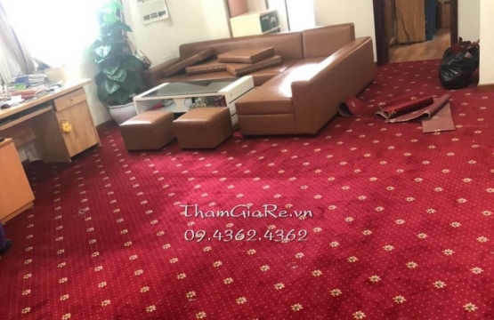 Chung cư ở Khu đô thị Nghĩa Đô trải thảm khách sạn hoa văn dày 10mm