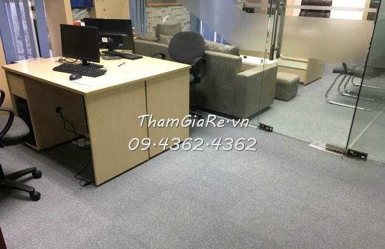 Thảm tấm ghép đế cao su tại tòa nhà BIDV 27 Huỳnh Thúc Kháng