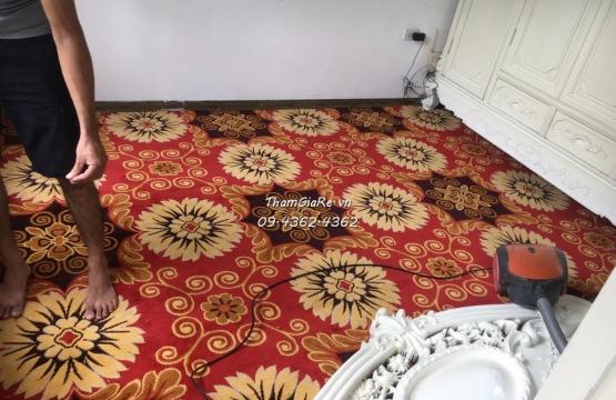Trải thảm phòng ngủ cao cấp tại biệt thự ở Thanh Trì